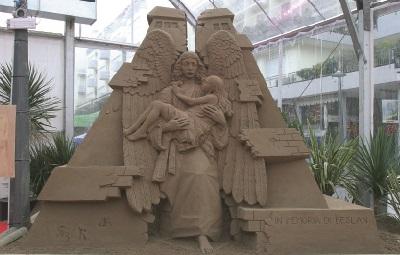 presepe di sabbia jesolo angelo