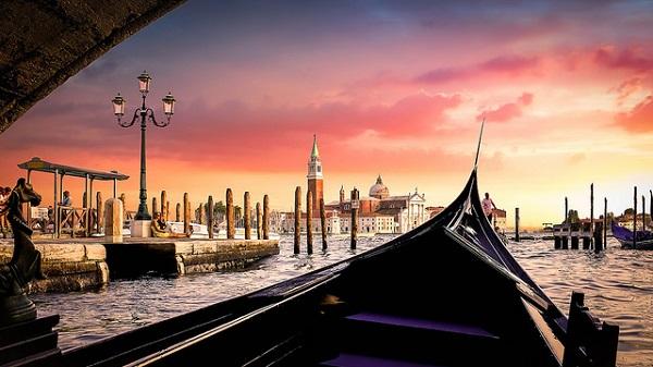 Particolare gondola Venezia