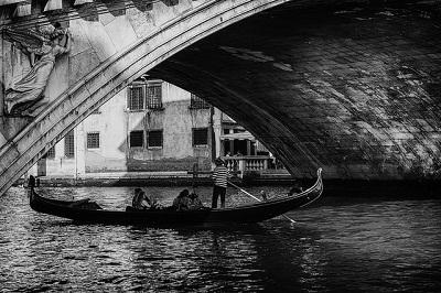 Ponte di Rialto bianco e nero
